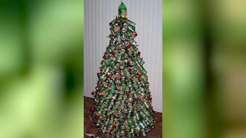 Leere Dosen gehören in den Müll...oder an den Weihnachtsbaum. (Foto: SAT.1 NRW)