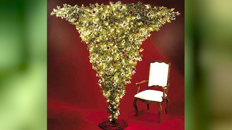 Das ist mal eine Idee: Den Weihnachtsbaum verkehrt herum aufstellen. (Foto: SAT.1 NRW)
