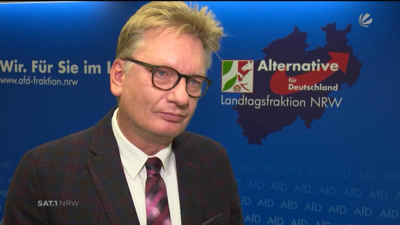 AfD-Fraktionsvorsitzender Markus Wagner zu Jamaika-Aus (Foto: SAT.1 NRW)
