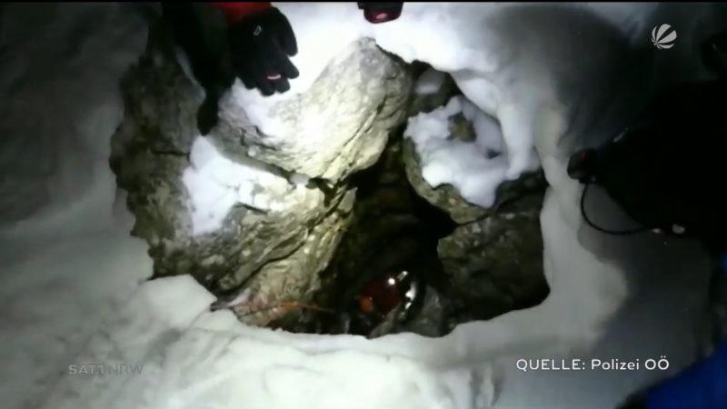 Duisburger überlebt fünf Tage in Felsspalte (Foto: SAT.1 NRW)
