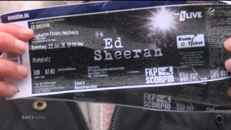 Schreck für Ed Sheeran (Foto: SAT.1 NRW)
