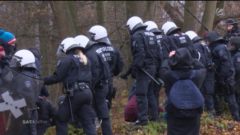 Hambacher Forst: Proteste wegen Rodungen (Foto: SAT.1 NRW)