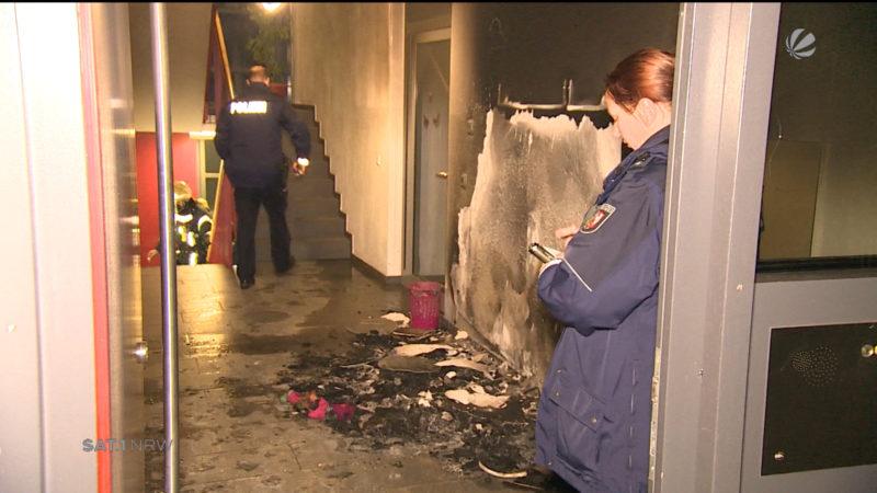 Kinder nach Feuer in Kinderheim gerettet (Foto: SAT.1 NRW)