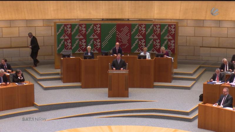 NRW-Haushalt im Landtag vorgestellt (Foto: SAT.1 NRW)