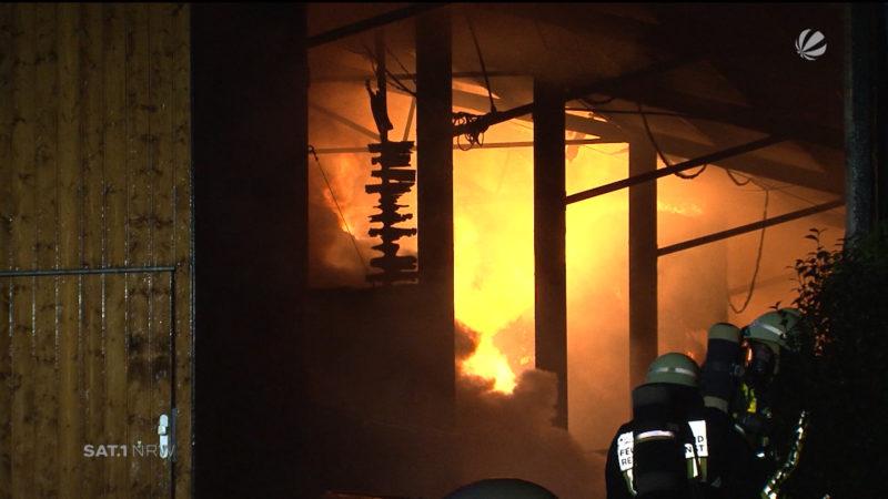 Großbrand in Bochum (Foto: SAT.1 NRW)