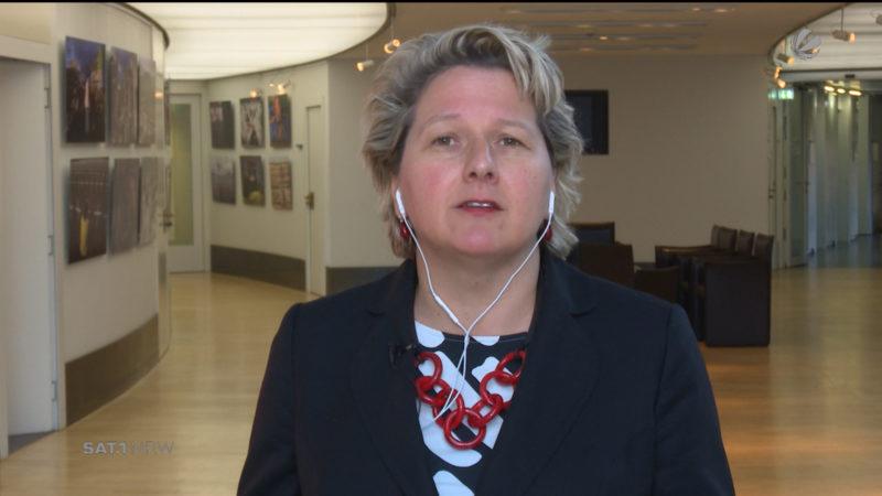 Svenja Schulze (SPD) im Interview (Foto: SAT.1 NRW)
