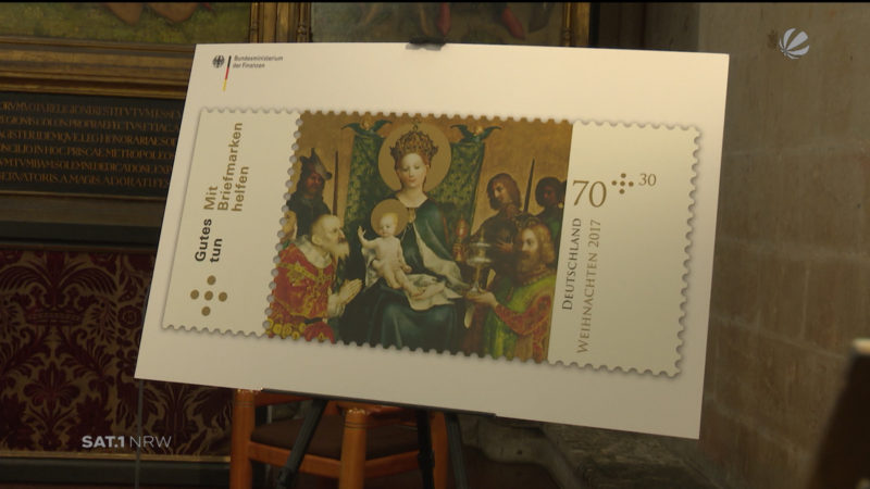 Weihnachtliche Sonderbriefmarke (Foto: SAT.1 NRW)