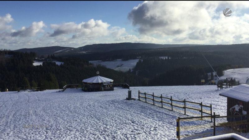 Der erste Schnee in NRW (Foto: SAT.1 NRW)