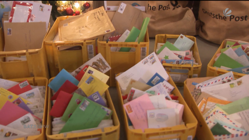 Rekordverdächtig: Christkind erhält viele Briefe (Foto: SAT.1 NRW)