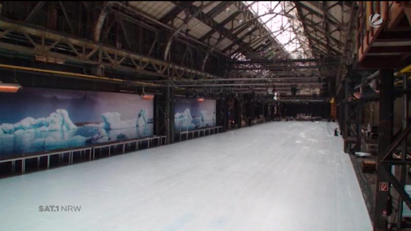 Eissalon Ruhr wird vorbereitet (Foto: SAT.1 NRW)