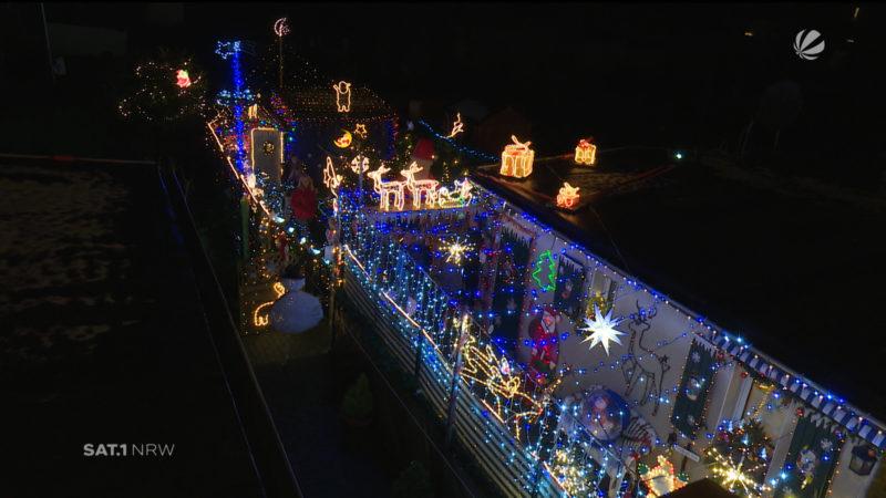 Weihnachtshaus in Moers (Foto: SAT.1 NRW)