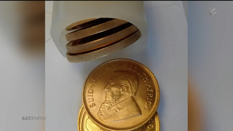 Pflegerin findet Goldmünzen in Seniorenheim (Foto: SAT.1 NRW)