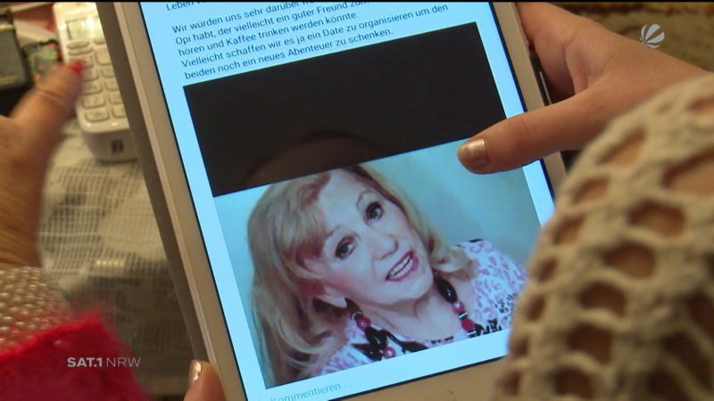 Enkelin such Mann für Oma bei Facebook (Foto: SAT.1 NRW)