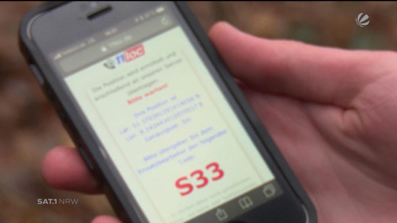 Neuer Handy-Ortungsdienst kann Leben retten (Foto: SAT.1 NRW)