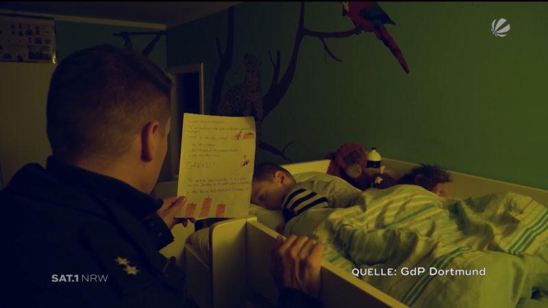 Bewegendes Video der Polizei: Wir sagen danke (Foto: SAT.1 NRW)