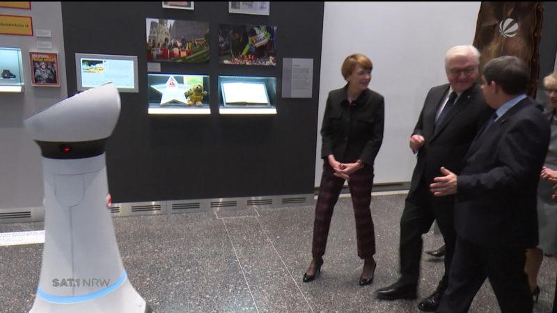 Bonn: Bundespräsident im Haus der Geschichte (Foto: SAT.1 NRW)