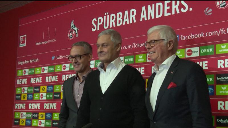 Armin Veh tritt sein Amt beim 1. FC Köln an (Foto: SAT.1 NRW)