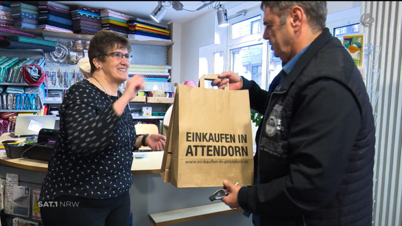 Attendorn: Stadt kämpft gegen Online-Handel (Foto: SAT.1 NRW)