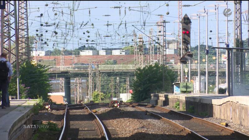 Streckensperrung zwischen Duisburg und Essen (Foto: SAT.1 NRW)
