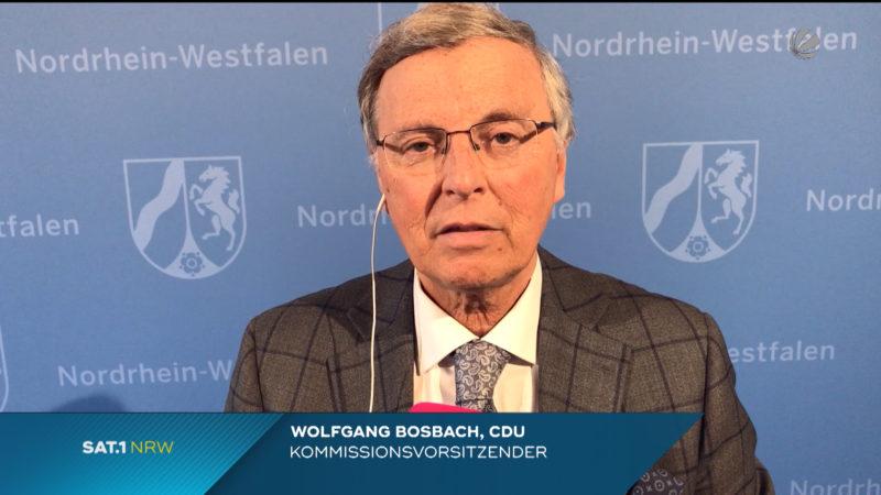 Wolfgang Bosbach im Interview (Foto: SAT.1 NRW)