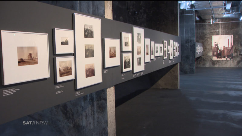Ausstellung mit Zechenfotos (Foto: SAT.1 NRW)