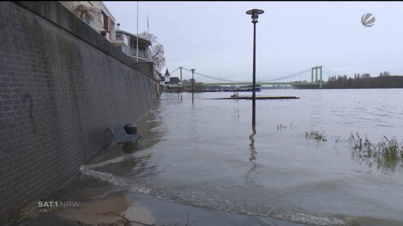 NRW bereitet sich auf Hochwasser vor (Foto: SAT.1 NRW)