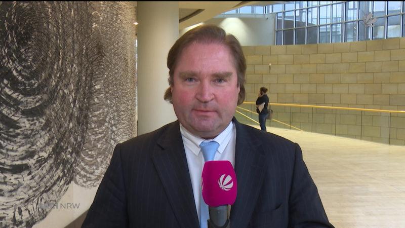 NRW-Finanzminister zu Landeshaushalt 2018 (Foto: SAT.1 NRW)