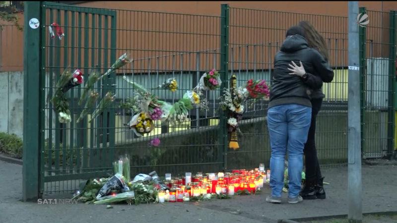 Lünen: Trauer um verstorbenen Schüler (Foto: SAT.1 NRW)