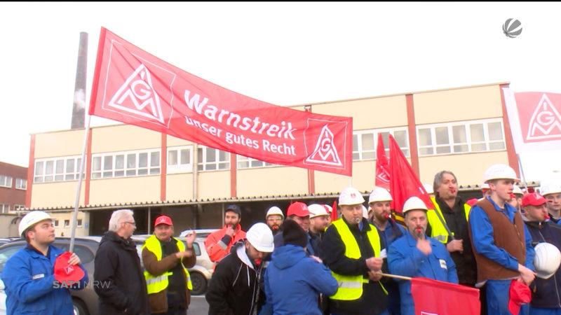 Warnstreiks der IG Metall (Foto: SAT.1 NRW)