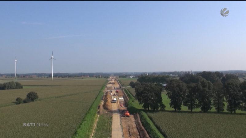 Verlauf der Stromautobahn geplant (Foto: SAT.1 NRW)