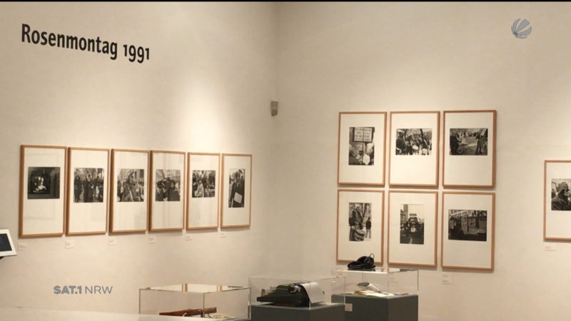 "Ausstellung ""Trotzdem Alaaf"" (Foto: SAT.1 NRW)"
