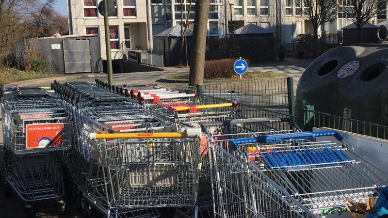 Einkaufswagen verschwinden (Foto: SAT.1 NRW)
