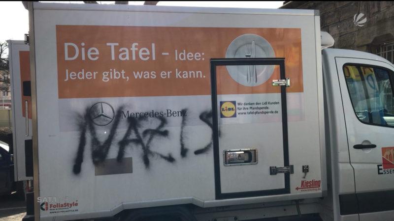 Angriff auf Essener Tafel (Foto: SAT.1 NRW)