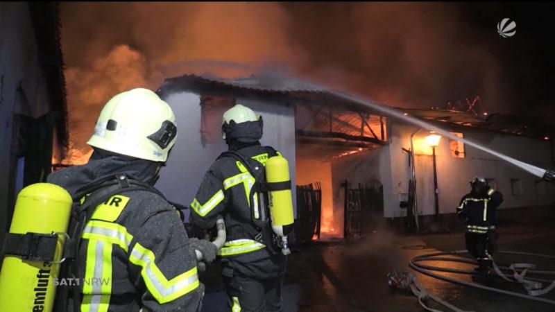 Feuerwehr im Einsatz: Feuer und Eis (Foto: SAT.1 NRW)