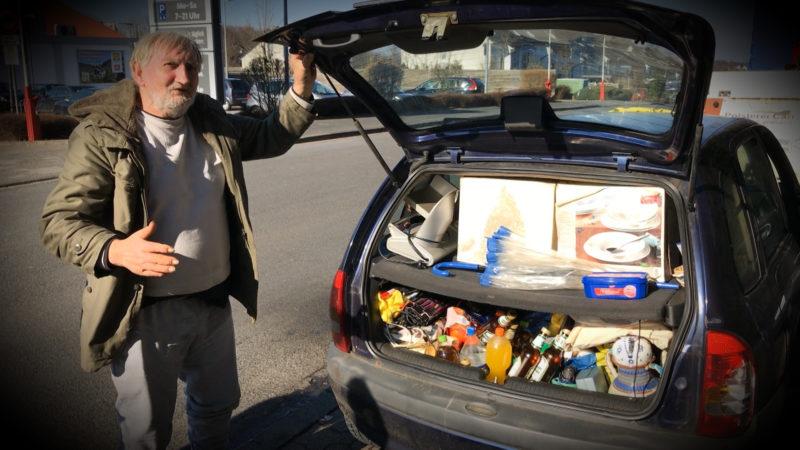 Horst wohnt im Auto (Foto: SAT.1 NRW)