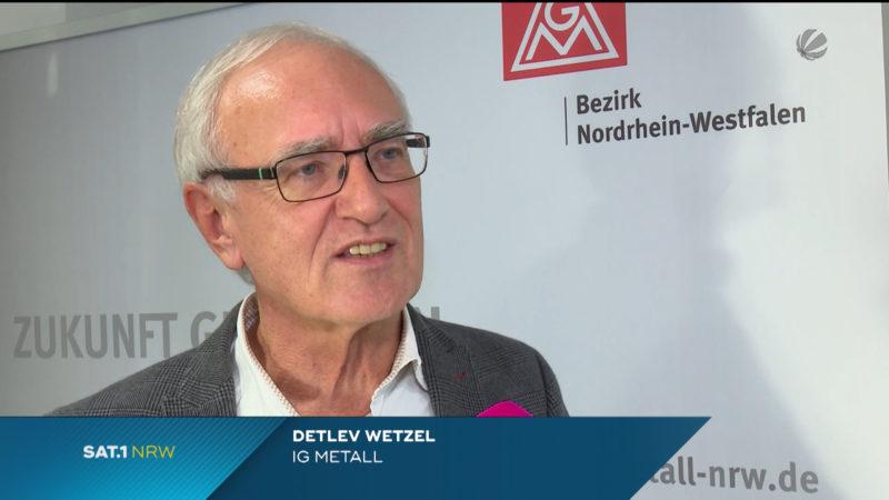 Thyssenkrupp: Zustimmung der IG-Metall-Mitglieder für Tarifvertrag (Foto: SAT.1 NRW)