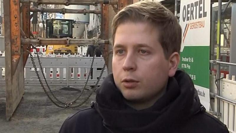 Groko-Gegner Kühnert im Interview (Foto: SAT.1 NRW)