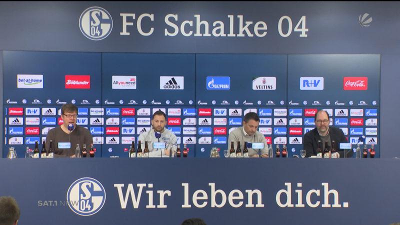 Schalke-Trainer freut sich auf Jupp Heynckes (Foto: SAT.1 NRW)