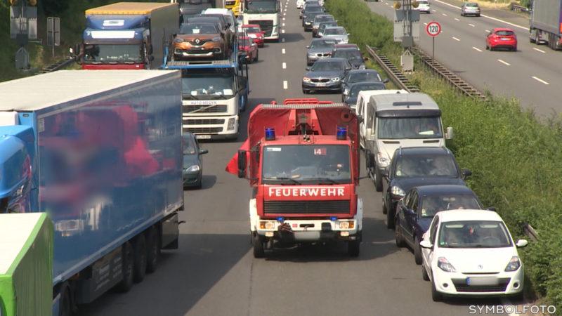 So wichtig ist die Rettungsgasse (Foto: SAT.1 NRW)