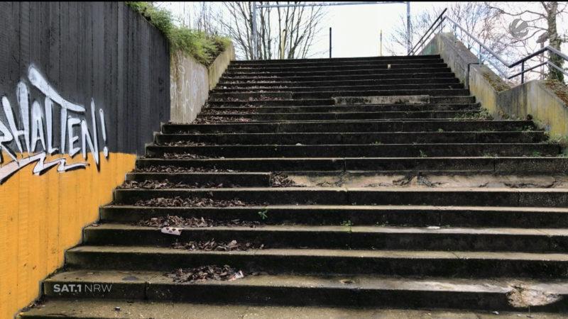 Rettung der Tivoli-Treppe (Foto: SAT.1 NRW)