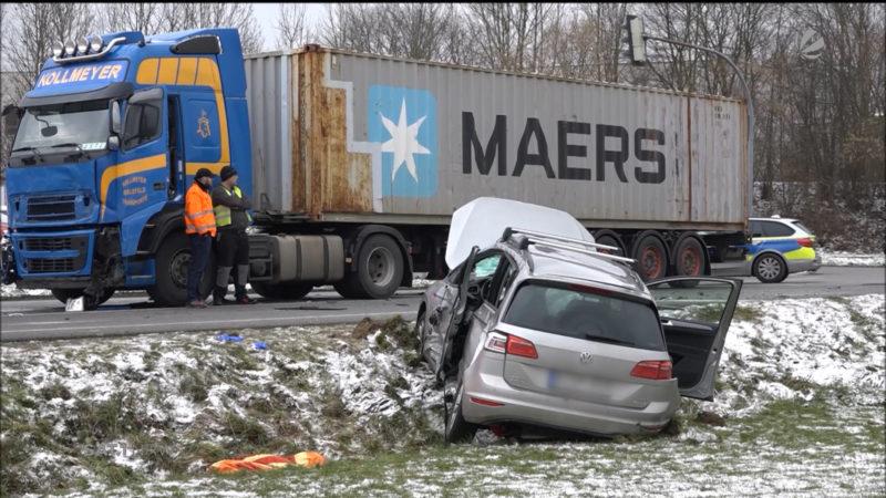 Tödlicher Unfall in Bielefeld (Foto: SAT.1 NRW)