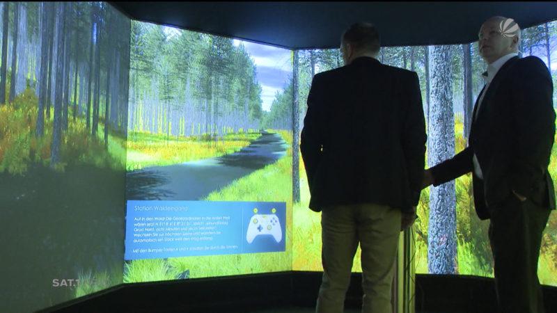 Virtueller Raum in der DASA Dortmund (Foto: SAT.1 NRW)