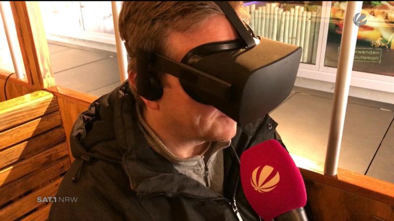 Köln: Zeitreise mit Virtual Reality (Foto: SAT.1 NRW)