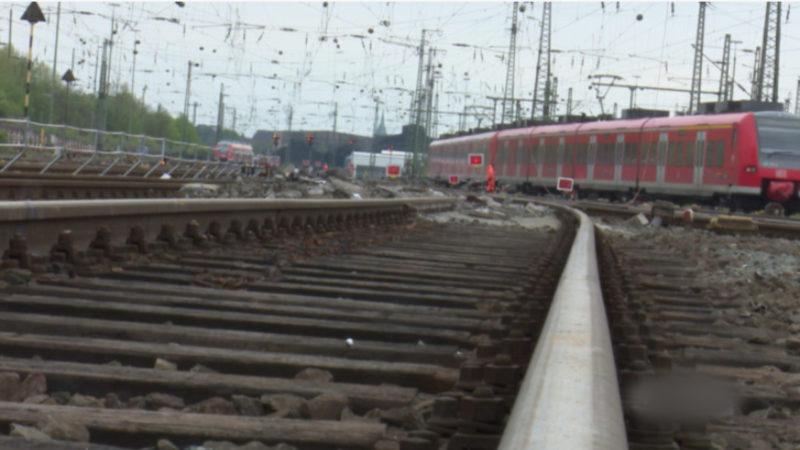 Güterzug entgleist (Foto: SAT.1 NRW)