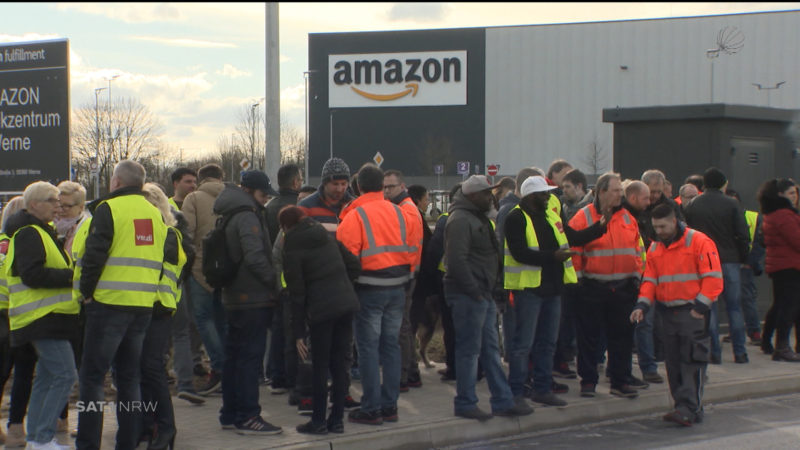 Amazon: Warnstreiks in Werne (Foto: SAT.1 NRW)