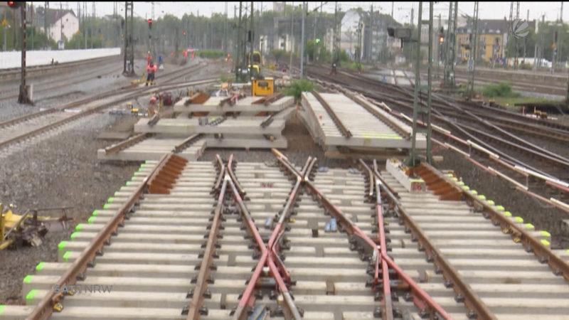 Bahnarbeiten zwischen Düsseldorf und Köln (Foto: SAT.1 NRW)
