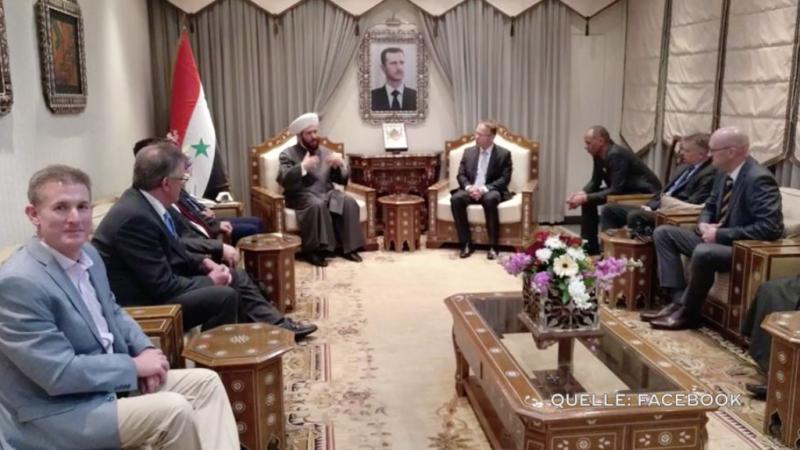 AfD Abgeordnete zu Besuch in Syrien (Foto: SAT.1 NRW)