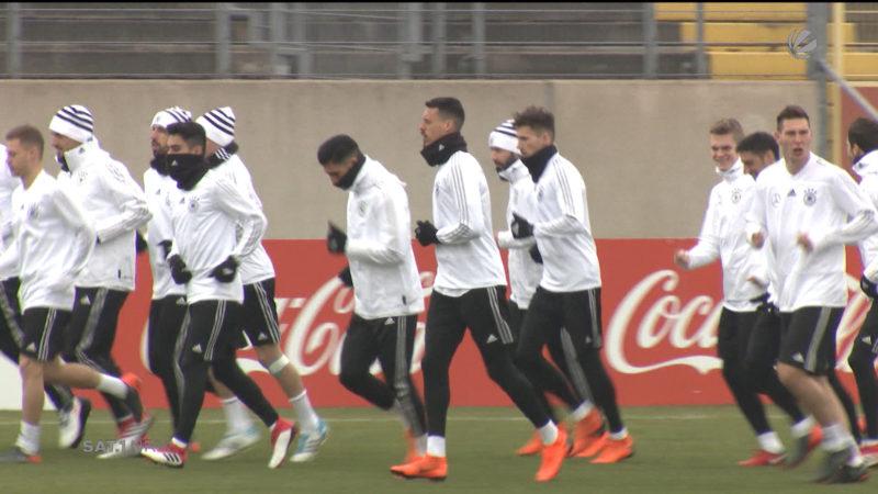 Nationalmannschaft trainiert in Düsseldorf (Foto: SAT.1 NRW)