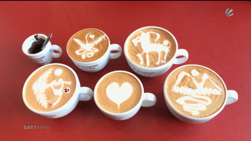 Kaffee-Kunst vom Deutschen Latte-Art-Meister (Foto: SAT.1 NRW)