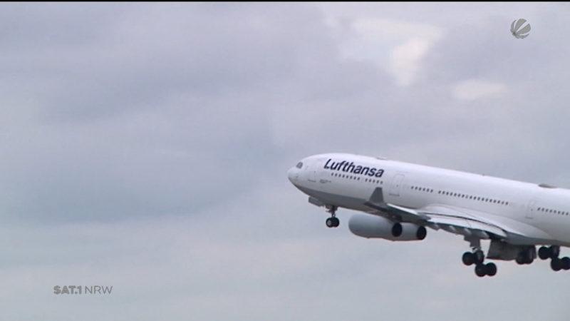 Lufthansa beherrscht die Lüfte (Foto: SAT.1 NRW)